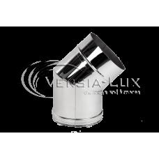 Колено 45º из нержавеющей стали: толщина стенки - 0,6 мм; Ø от 100 до 300 мм