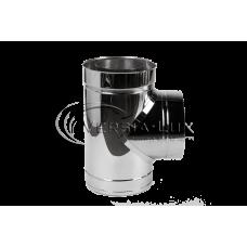 Тройник 87º из нержавеющей стали с теплоизоляцией в нержавеющем кожухе: толщина стенки внутренней трубы - 0,6 мм; Ø от 100 до 360 мм