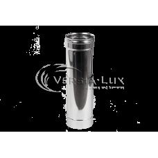 Труба-удлинитель из нержавеющей стали: длина - 0,5-1,0 м; толщина стенки - 0,6 мм; Ø от 100 до 300 мм