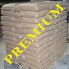 Пеллета древесная, сорт Premium (1-й сорт), мешки по 15 кг, 1 тонна
